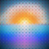 Driehoekige achtergrond van dageraad vectorillustratie stock illustratie