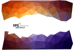 Driehoekige banner, eps10 Stock Illustratie