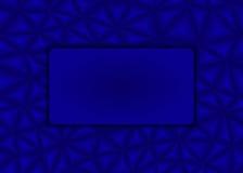 Driehoekige blauwe achtergrond met een leeg teken Stock Foto