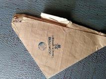 Driehoekige brief van de voorzijde royalty-vrije stock afbeeldingen