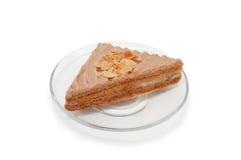 Driehoekige cake op plaat Royalty-vrije Stock Foto's