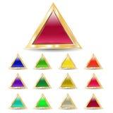 Driehoekige knopen Royalty-vrije Stock Fotografie