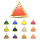 Driehoekige knopen stock illustratie
