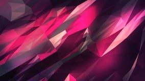Driehoekige kristallijne animatie als achtergrond stock illustratie
