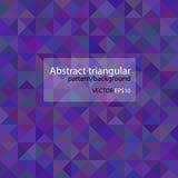 Driehoekige purpere kleurrijke patroon en achtergrond Royalty-vrije Stock Fotografie