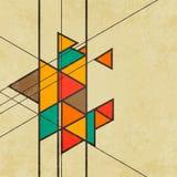 Driehoekige retro abstracte vector als achtergrond Royalty-vrije Stock Foto