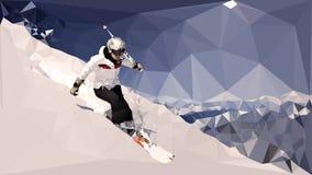 Driehoekige ski vector illustratie