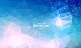 Driehoekige technologie-achtergrond met verbindingen Vector illustratie Kleurrijke abstracte achtergrond Abstracte veelhoekige ac stock illustratie