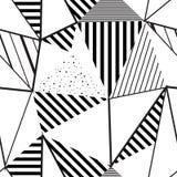 DRIEHOEKS ABSTRACT NAADLOOS VECTORpatroon Geometrische gestreepte textuur Het ontwerpachtergrond van Grunge Royalty-vrije Stock Afbeelding