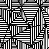 DRIEHOEKS ABSTRACT NAADLOOS VECTORpatroon Geometrische gestreepte textuur Het ontwerpachtergrond van Grunge Stock Foto's
