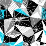 DRIEHOEKS ABSTRACT NAADLOOS VECTORpatroon GEOMETRISCHE HET UITBROEDEN TEXTUUR Het ontwerpachtergrond van Grunge Stock Afbeelding