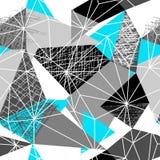 DRIEHOEKS ABSTRACT NAADLOOS VECTORpatroon GEOMETRISCHE HET UITBROEDEN TEXTUUR Het ontwerpachtergrond van Grunge vector illustratie