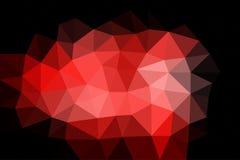 Driehoeks abstracte rode zwarte Royalty-vrije Stock Foto's