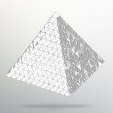 Driehoeks Geometrische Achtergrond Abstracte 3d chaotische piramide Vector illustratie EPS10 Stock Afbeelding