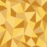 Driehoeks gouden achtergrond Stock Foto
