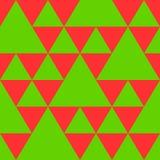 Driehoeks naadloos patroon in nieuwe jaarkleuren Stock Afbeelding