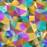 Driehoeks naadloos patroon van geometrische vormen. Kleurrijk mozaïek B Royalty-vrije Stock Foto's