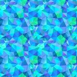 Driehoeks naadloos patroon van geometrische vormen. Kleurrijk mozaïek B Royalty-vrije Stock Afbeeldingen