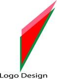 Driehoeks Rode kleur Logo Design Stock Afbeeldingen