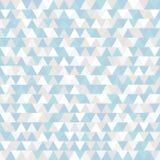 Driehoeks Vectorpatroon De blauwe grijze en witte veelhoekige achtergrond van de de wintervakantie Abstracte Nieuwjaarillustratie Royalty-vrije Stock Afbeelding