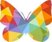 Driehoeks veelhoekig silhouet van vlinder Royalty-vrije Stock Afbeeldingen