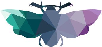 Driehoeks veelhoekig silhouet van vlinder Stock Foto
