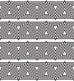 Driehoeks zwart-wit naadloos patroon vector illustratie