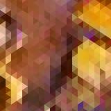 Driehoeksachtergrond in de herfstkleuren. Stock Foto