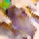 Driehoeksachtergrond in de herfstkleuren. Royalty-vrije Stock Afbeeldingen