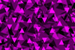 Driehoeksachtergrond - purple, stock illustratie