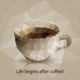 Driehoekskop van koffie stock illustratie