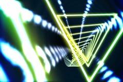 Driehoeksontwerp met het gloeien licht Royalty-vrije Stock Afbeeldingen
