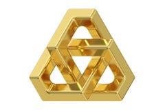Driehoeksoptische illusie, het 3D teruggeven stock illustratie