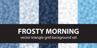 Driehoekspatroon vastgesteld Frosty Morning Stock Foto's