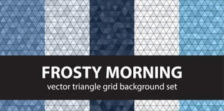 Driehoekspatroon vastgesteld Frosty Morning Royalty-vrije Stock Afbeelding