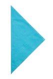 Driehoeksservet op witte achtergrond wordt geïsoleerd die royalty-vrije stock afbeeldingen