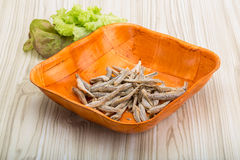 Dries anchovy Royalty Free Stock Photography
