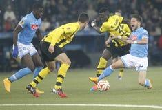 Dries Mertens and Sekou Sanogo Young Boys Berne v FC Naples Liga Europa Stock Image