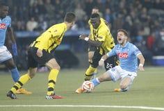 Dries Mertens and Sekou Sanogo Young Boys Berne v FC Naples Liga Europa Royalty Free Stock Image