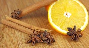 Dries orange aroma spices Royalty Free Stock Photo