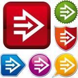 Drievoudig pijlpictogram Stock Afbeelding