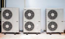 Drievoudige compressoreenheid Stock Foto