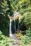 Drievoudige die Dalingen, op van de de Rivierkloof van Colombia van Oregon het Nationale Toneelgebied worden gevestigd stock foto's