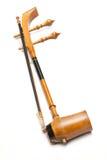 Drievoudige fiddle of het discant Geklonken instrument van de koord Thaise muziek Royalty-vrije Stock Fotografie