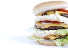 Drievoudige hamburger Stock Fotografie