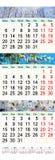 Drievoudige kalender voor Maart April en Mei 2017 met beelden Stock Fotografie
