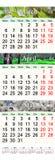 Drievoudige kalender voor Maart April en Mei 2017 met beelden Stock Afbeeldingen