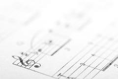 Drievoudige muziekachtergrond Stock Foto