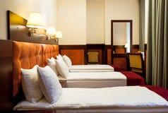 Drievoudige ruimte in hotel Royalty-vrije Stock Afbeelding