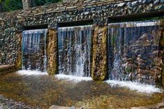 Drievoudige waterval Royalty-vrije Stock Foto
